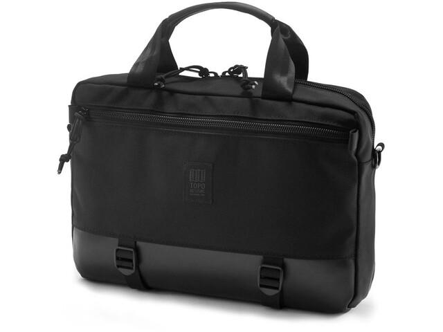 Topo Designs Commuter Maletín, ballistic black/black leather